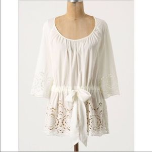 Anthropologie floreat eyelet nanas doiley blouse 6